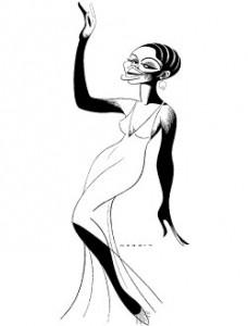 Lynnie Godfrey as Ethel Waters Sketch by Sam Norkin