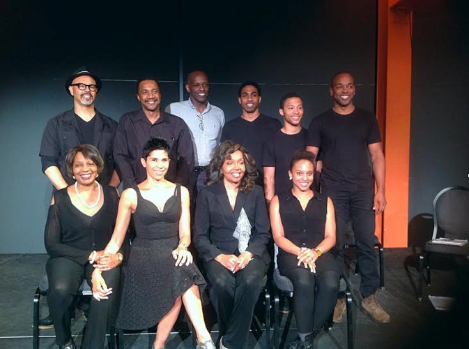 Unentitled Cast Top Left to Right: CB Murray, Ron Scott, Charles White, Anthony Goss, Cole Taylor, Justin Walker White,  Bottom Left to Right: Brenda Thomas Denmark, Alexandra Foucard, Lynnie Godfrey, Jalene Goodwin