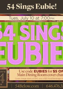 54 Sings Eubie July 10, 2018